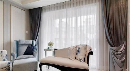 双层窗帘白纱帘在里面还是外面安装效果图